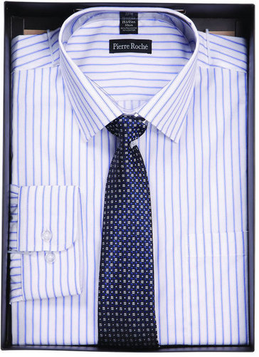 PIERRE ROCHE STRIPE SHIRT TIE SET