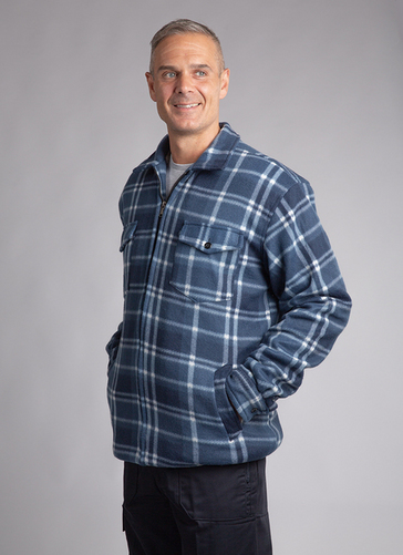 Full Zipped Lumber Check Shirt