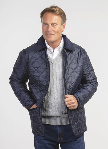 Diamond Quilted Cord Collar Jacket