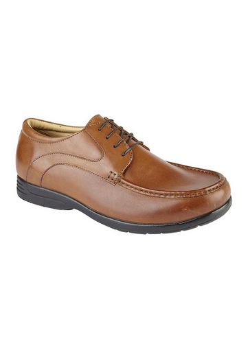 Leather Lace Wide Fit Comfort Shoe