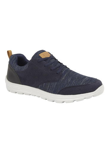 Faux Suede Mesh Casual Lace Up Shoe