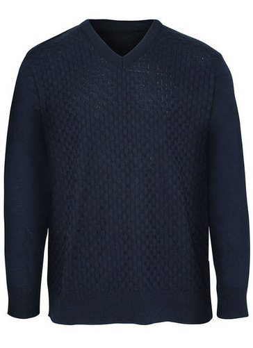 Mens Plain V Sweater