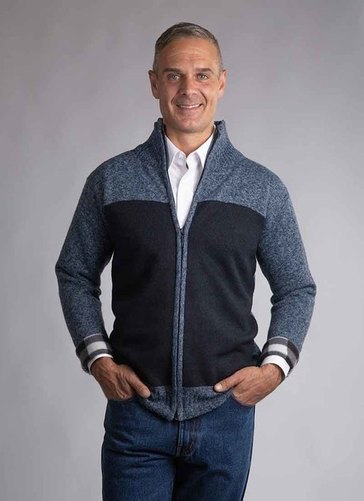 Bonded Fleece Zipped Cardigan