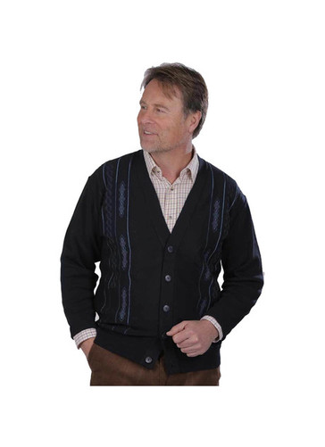 Jaquard Design Button Cardigan