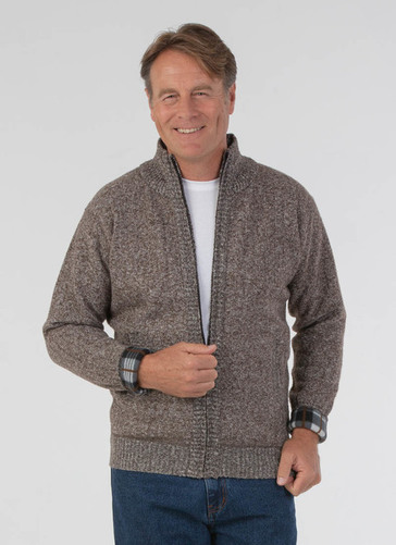 Full Zip Fleece Lined Cardigan