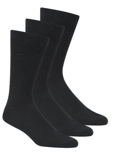 Gentle Grip Black Socks