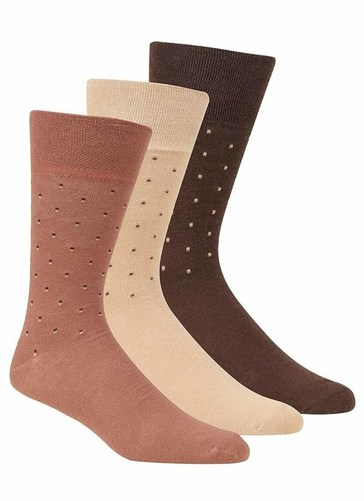 Gentle Grip Brown Socks