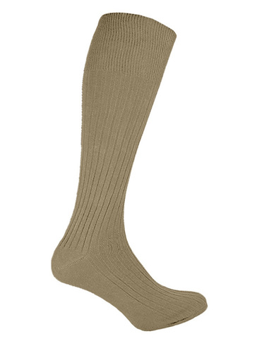 Calf Length Brown Socks