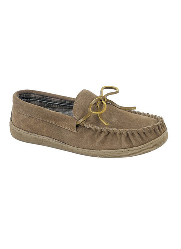 Suede Moccasin Slipper
