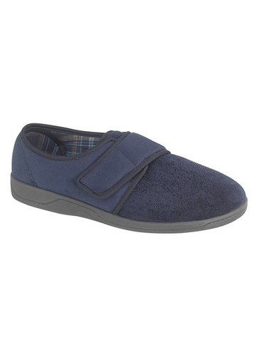 Touch Fasten Suede Slippers