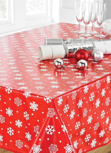 Christmas Pvc Wipe Clean Tablecloth