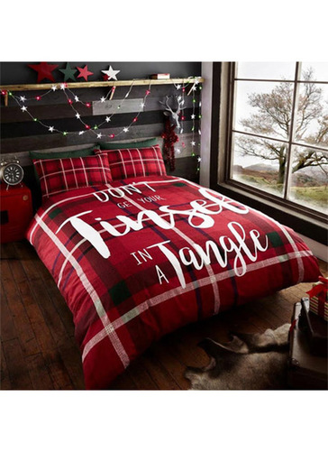 Tinsel In A Tangle Christmas Duvet Set