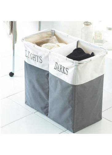 Folding 'lights & Darks' Laundry Sorter