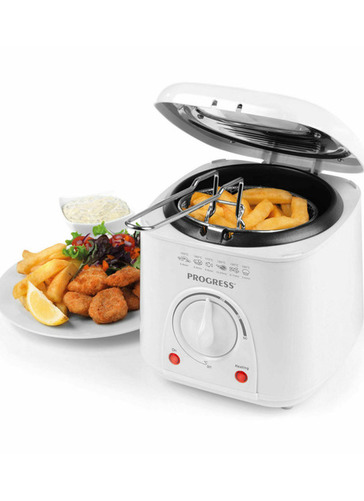 COMPACT DEEP FRYER WITH COOKING BASKET