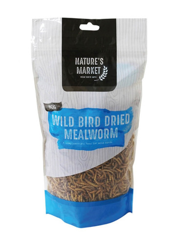 80g Bag Dried Mealworms Wild Bird Feed
