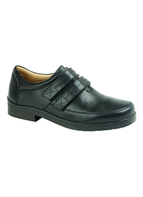 LEATHER TWIN FASTEN TOUCH FIT SHOE
