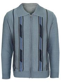 oxford zipper cardigan